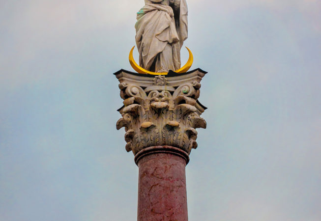 'St. Anna's Column' by Photographer Debbi Nelson. © Copyright 2016 Debbi Nelson dba Photograzia