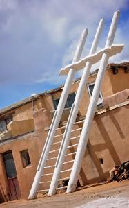 'Acoma Double Ladder' by photographer Debbi Nelson. © Copyright 2016 Debbi Nelson dba Photograzia