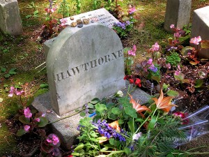 Nathaniel Hawthorne Tombstone in Concord, Massachusetts