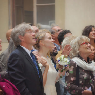 Wedding Guests In Florence Italy