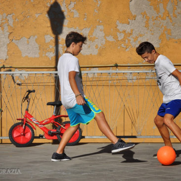 Italian Boys Playing Ball